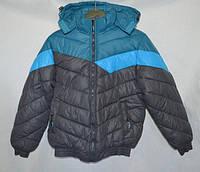 Зимняя куртка для мальчика под резинку 140-146р
