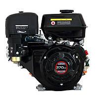 Двигатель бензиновый Loncin G270F   (9 л.с., ручной стартер, шпонка Ø25мм, L=58мм) + доставка