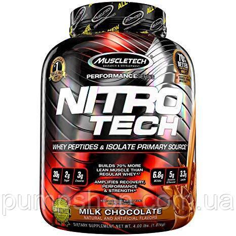 Изолят сывороточного протеина MuscleTech Nitro-Tech 1800 г