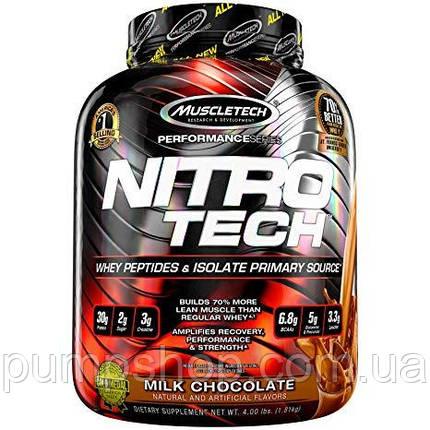 Изолят сывороточного протеина MuscleTech Nitro-Tech 1800 г, фото 2