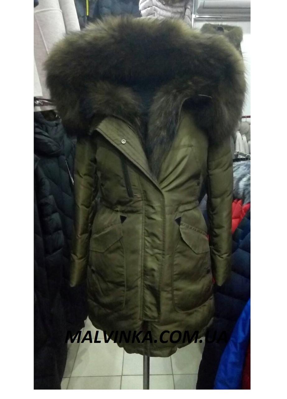 Куртка зимняя с натур.мехом ZILANLIYA р M,L арт  17-338