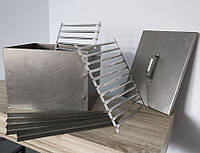 "Коптильня из металла ""СТАНДАРТ"" вместимость до 8кг. 410Х300Х300 ММ. Решетки из нержавейки"