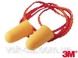 Одноразові протишумові беруші (вкладиші) 3M™ 1110 на шнурку.