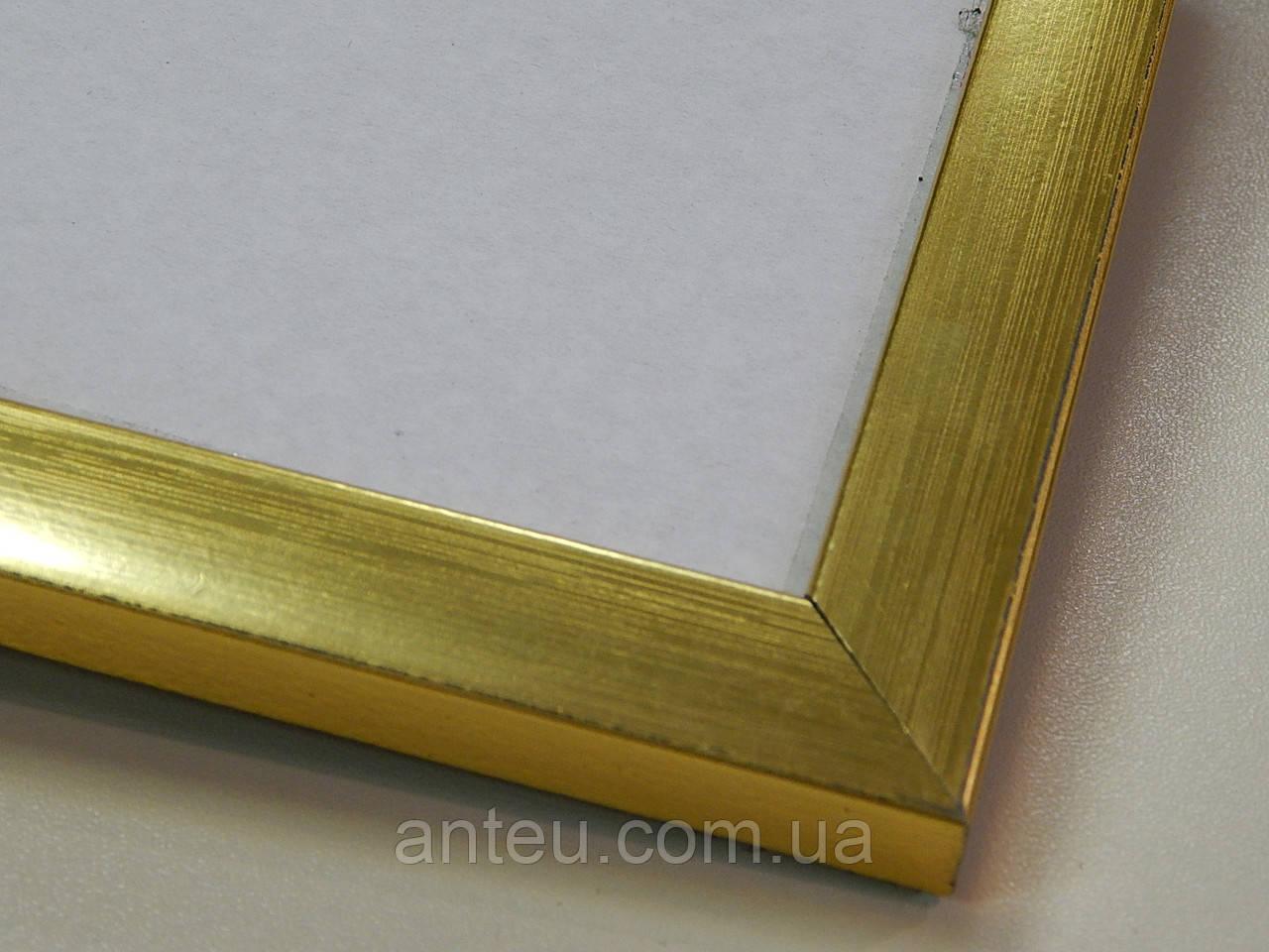 Рамка А3(297х420)Антибликовое стеклоПрофиль 16 мм.Золото.