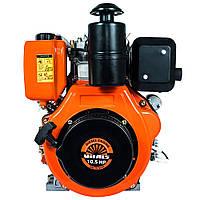 Двигатель дизельный Vitals DM 10.5sne (10 л.с., ручной стартер, сьем. цилиндр, шлиц Ø25мм, L=35,5м)+ доставка