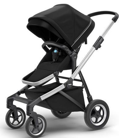 Детская универсальная коляска премиум класса Thule Sleek Midnight Black