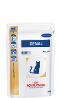 Royal Canin renal диета для кошек при хронической почечной недостаточности - 85 г