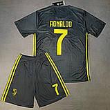 Детская футбольная форма ЮВЕНТУС №7 Роналдо + гетры в подарок, фото 4