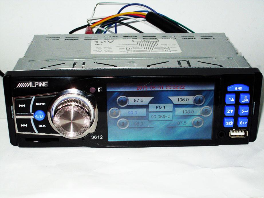 "Автомагнитола Alpine 3612 Blue - 3,6"" TFT Video экран -Divx/mp4/mp3 USB+SD"