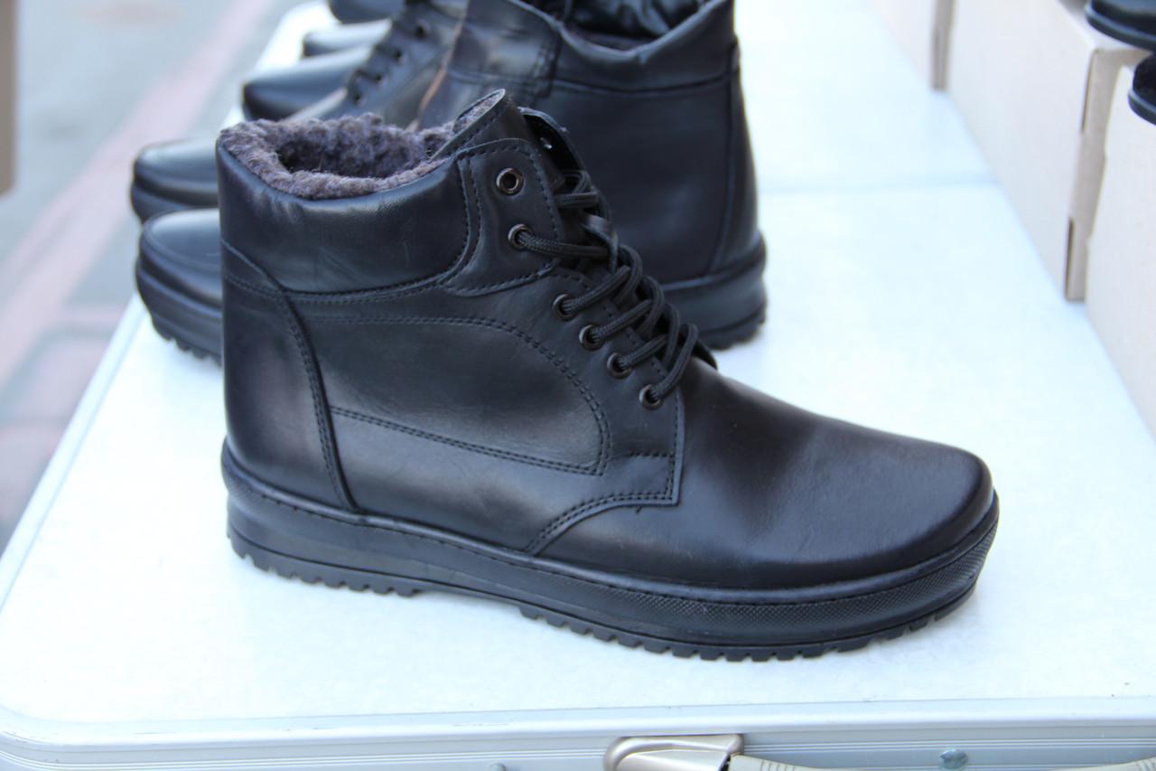 Мужские кожаные зимние ботинки AN 002