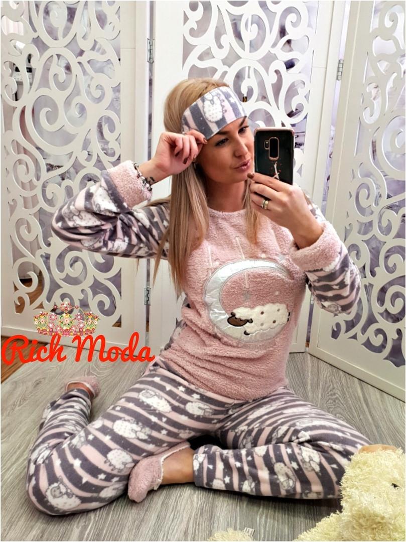 Женская теплая пижамка с барашками