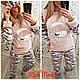 Женская теплая пижамка с барашками, фото 2