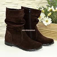 """Женские демисезонные коричневые ботинки замшевые. ТМ """"Maestro"""", фото 1"""