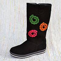 Замшевые сапоги девочкf, Eleven shoes размер 31-37