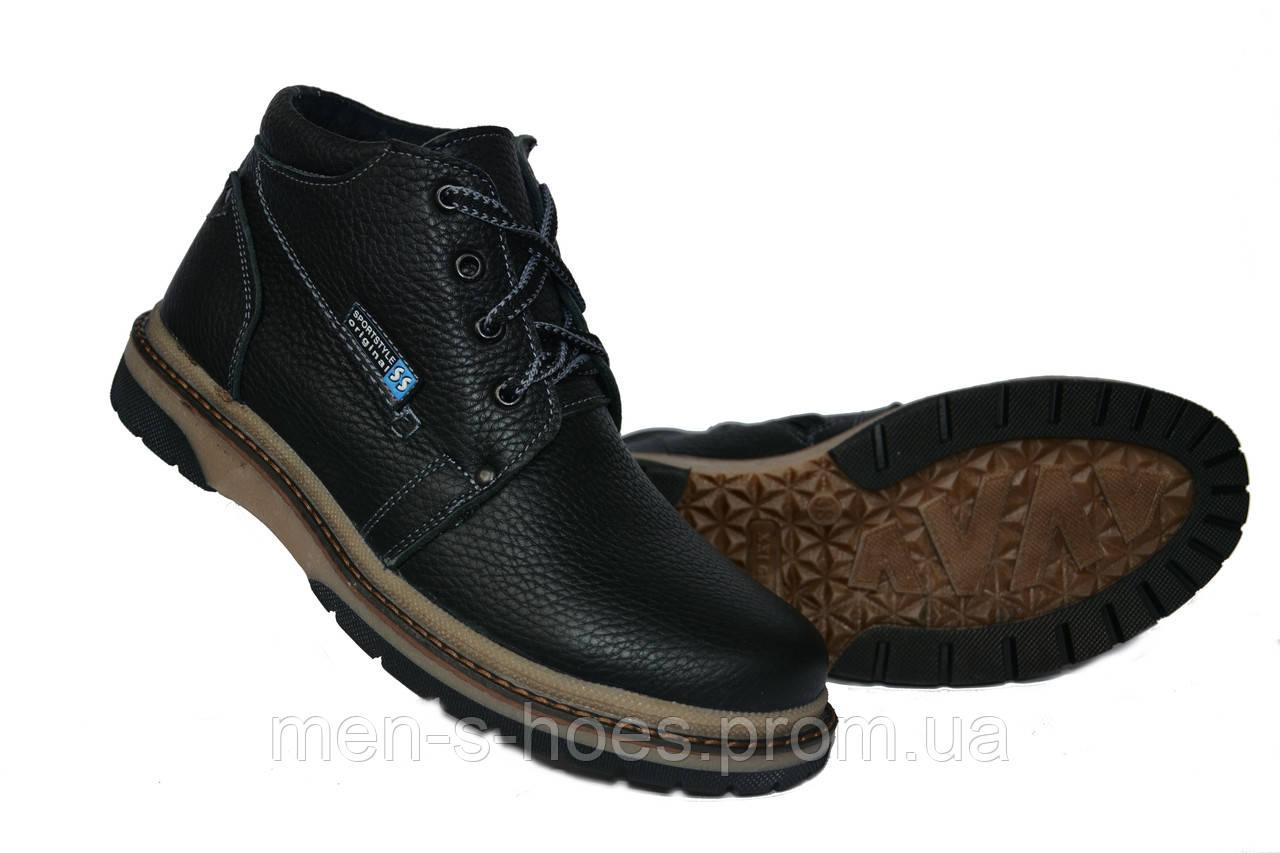 Зимние подростковые ботинки на мальчиков на шнуровке и молнии ... 045319b9935