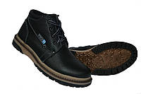 Зимние подростковые ботинки на мальчиков на шнуровке и молнии, фото 1