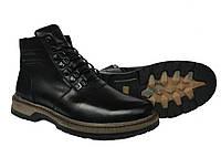 Кожаные  мужские зимние ботинки Riccone Black, фото 1