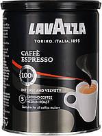 Кофе молотый Lavazza Caffe Espresso 100% Premium Arabica из Италии ж/б 250 г., фото 1