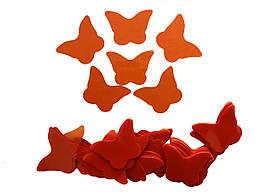 Конфетти бабочки оранжевые, 100 грамм