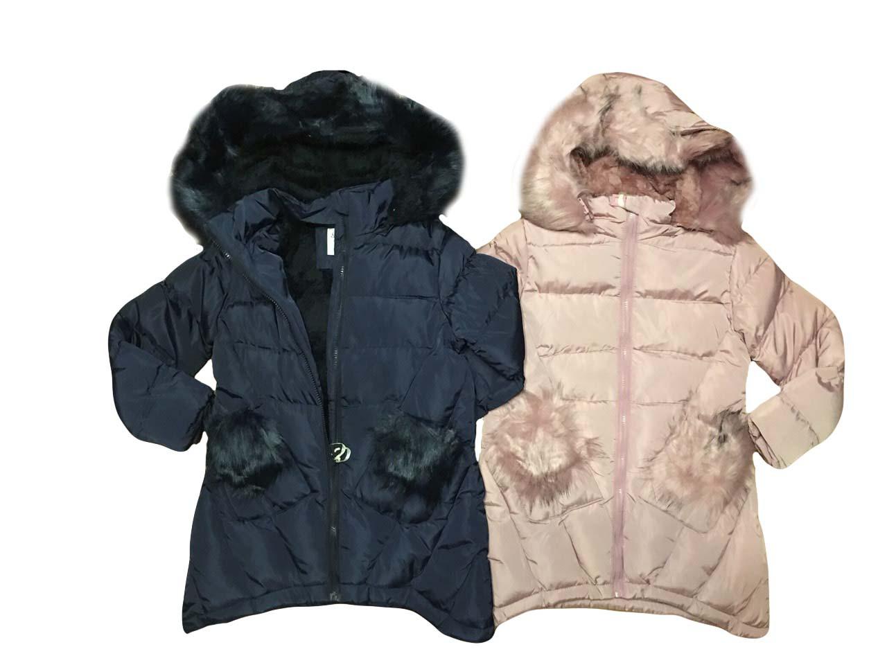 Куртки  на меху для девочек опт размеры 8-16 лет, F&D арт. L-110