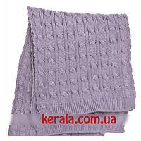 Вязаный шарф серый