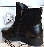 Ботинки женские зима на толстой подошве из натуральной кожи от производителя модель СВ18-185, фото 3