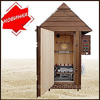 Электростатическая Коптильня 250л -холодного и горячего копчения, +просушка. Ольха внутри, крыша домиком, фото 1