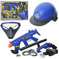 Детский Набор полиции 33550, маска, пистолет, бинокль, автомат трещотка, в кор-ке, 59-40-6см