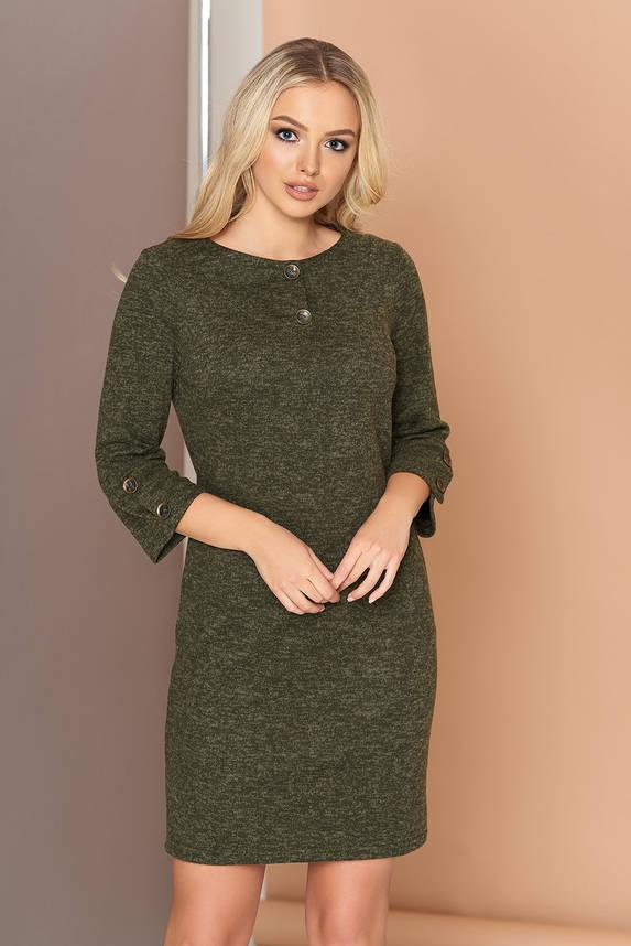 Платье трикотажное с кокеткой 44-50р хаки, фото 2