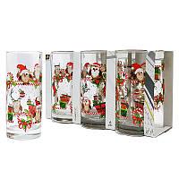 Набор стаканов Uniglass Classico Christmas Owls 270 мл 6 шт. высокие