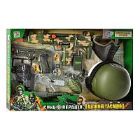 Набор военного 33560, каска, маска, автомат-трещотка, на бат-ке, в кор-ке, 58,5-40-15см