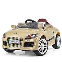 Детский электромобиль AUDI M 3891 EBLRS-13, 2.4G, 40W, мягкие колёса, кожа, ЗОЛОТОЙ - купить оптом, фото 1