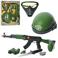 Набор военного 33510-33580, автомат, маска, каска, бинокль, 2 вида