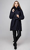 """Пальто жіноче зимове з утеплювачем """"Бельгія"""",PB2397, темно - синій, фото 1"""