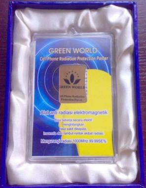 Защитная наклейка от излучения мобильного телефона Green World, фото 2