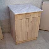 Стіл кухонний 60х60 (Стільниця 28мм) (Sonoma), фото 3