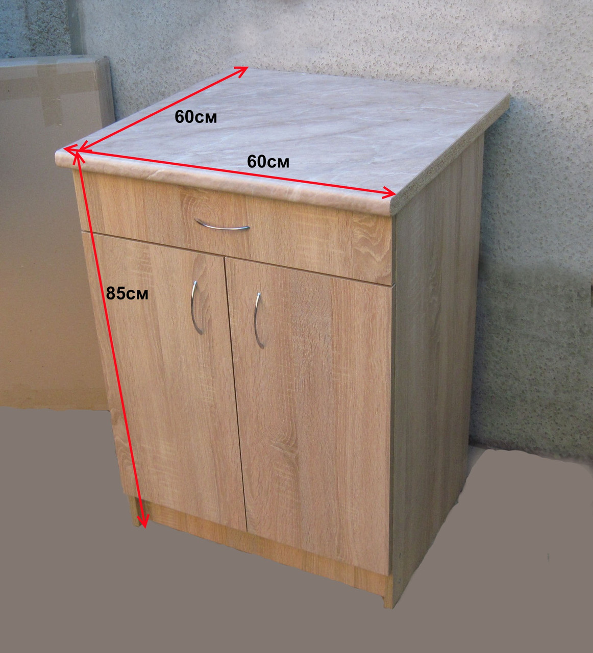 Стіл кухонний 60х60 (Стільниця 28мм) (Sonoma)
