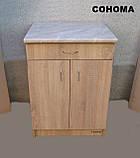 Стіл кухонний 60х60 (Стільниця 28мм) (Sonoma), фото 2