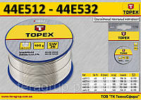 Припой оловянный Ø-1.0 мм,  TOPEX  44E514