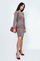 Облегающее короткое платье из ангоры 39457 (42–54р) в расцветках, фото 1