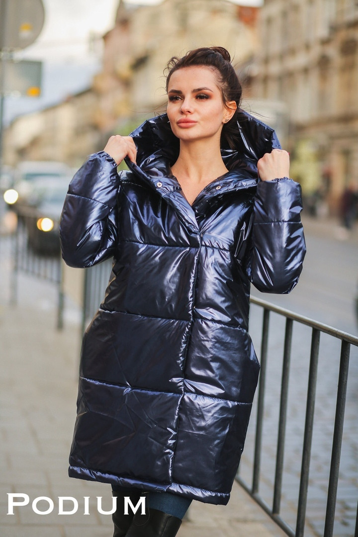 """Женская зимняя куртка """"Блеск 1"""" в расцветках. ПО-2-1018"""