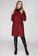 """Стильное пальто женское демисезонное """"Стамбул"""", PS2410 темно красный"""