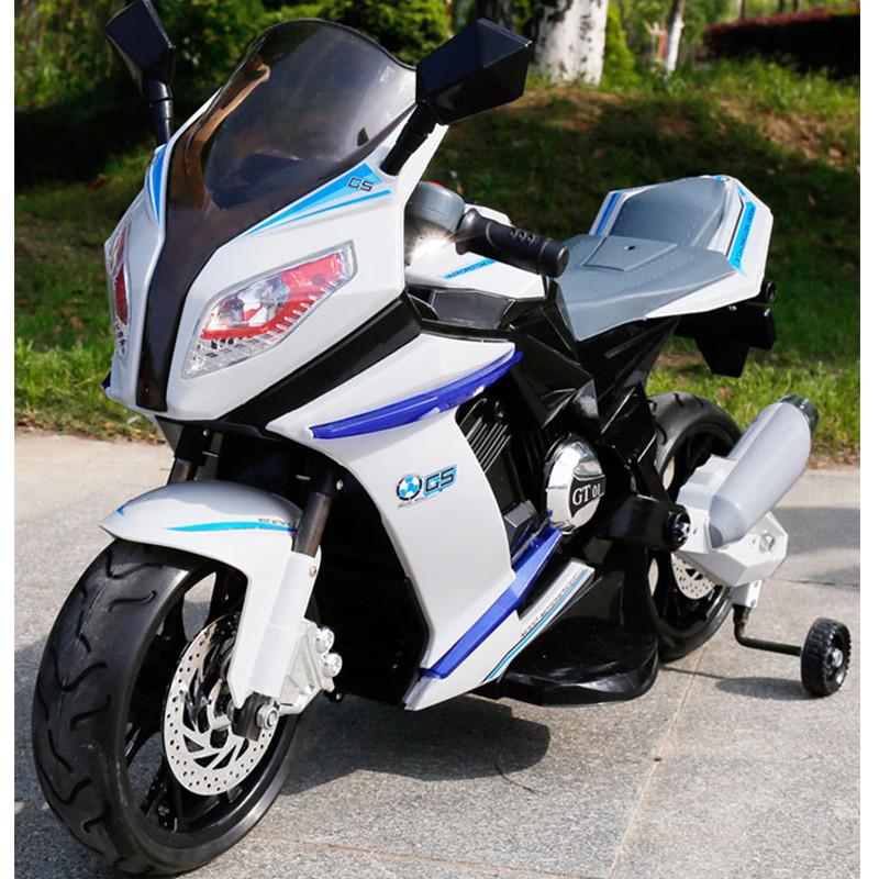 Детский мотоцикл BMW STYLE M 2769 EL-2-1: EVA, кожа, 6 км/ч, ЧЕРНО-БЕЛЫЙ - купить оптом детские мотоциклы