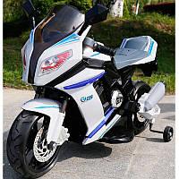 Детский мотоцикл BMW STYLE M 2769 EL-2-1: EVA, кожа, 6 км/ч, ЧЕРНО-БЕЛЫЙ - купить оптом детские мотоциклы, фото 1