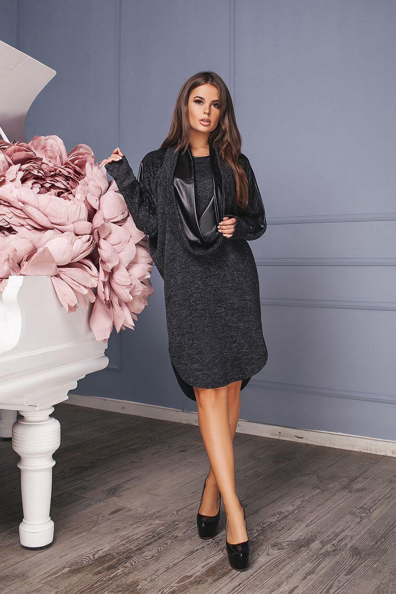 bb6204990bf Свободное трикотажное платье фасона