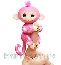 Обезьянка интерактивная Роза Fingerlings Monkey Glitter WowWee Оригинал