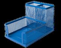 Металлический настольный прибор подставка buromax bm.6242-02 синий