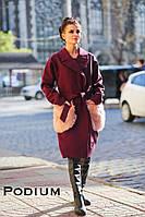 """Женское пальто """"Грация"""" с декором в расцветках. ПО-4-1018"""