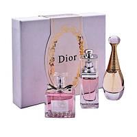 Женский набор мини-парфюмов CHRISTIAN DIOR 3 в 1, фото 1
