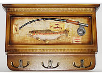 Ключница с выдвижной панелью деревянная  20*27см